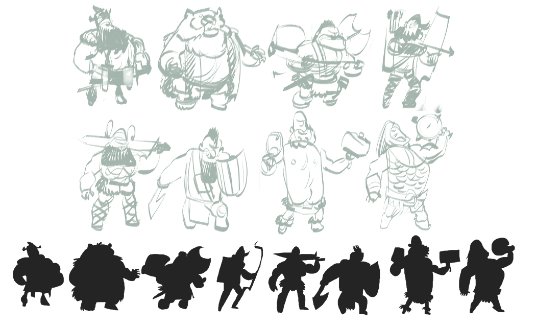 Basic Character Design Tips : Rick lacy character design class lesson silhouette