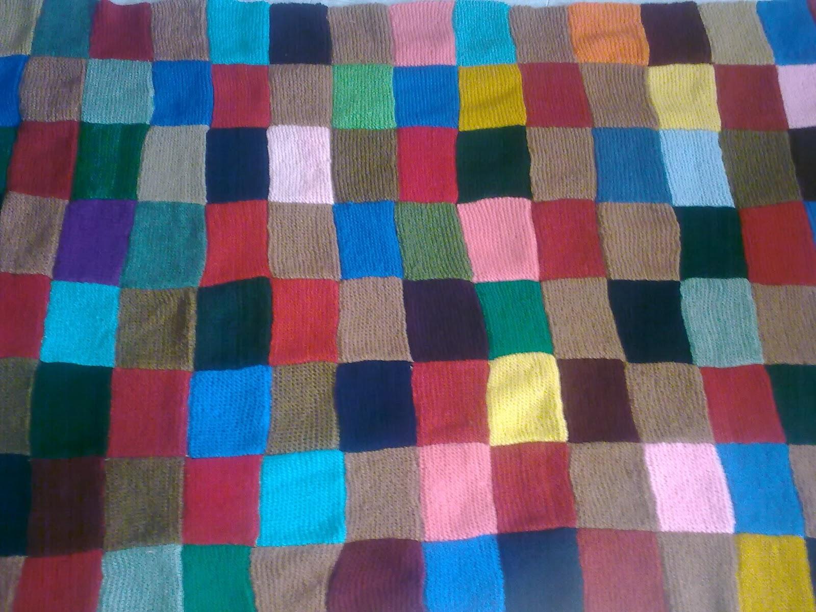 Para estar por casa aprovecha restos de lana y - Hacer manta de punto ...