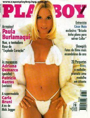 Confira as fotos da garota que explode coração, Paula Burlamaqui, capa da Playboy de Maio de 1996, confira tambem o video em que Paula Burlamaqui fica nua durante entrevista!