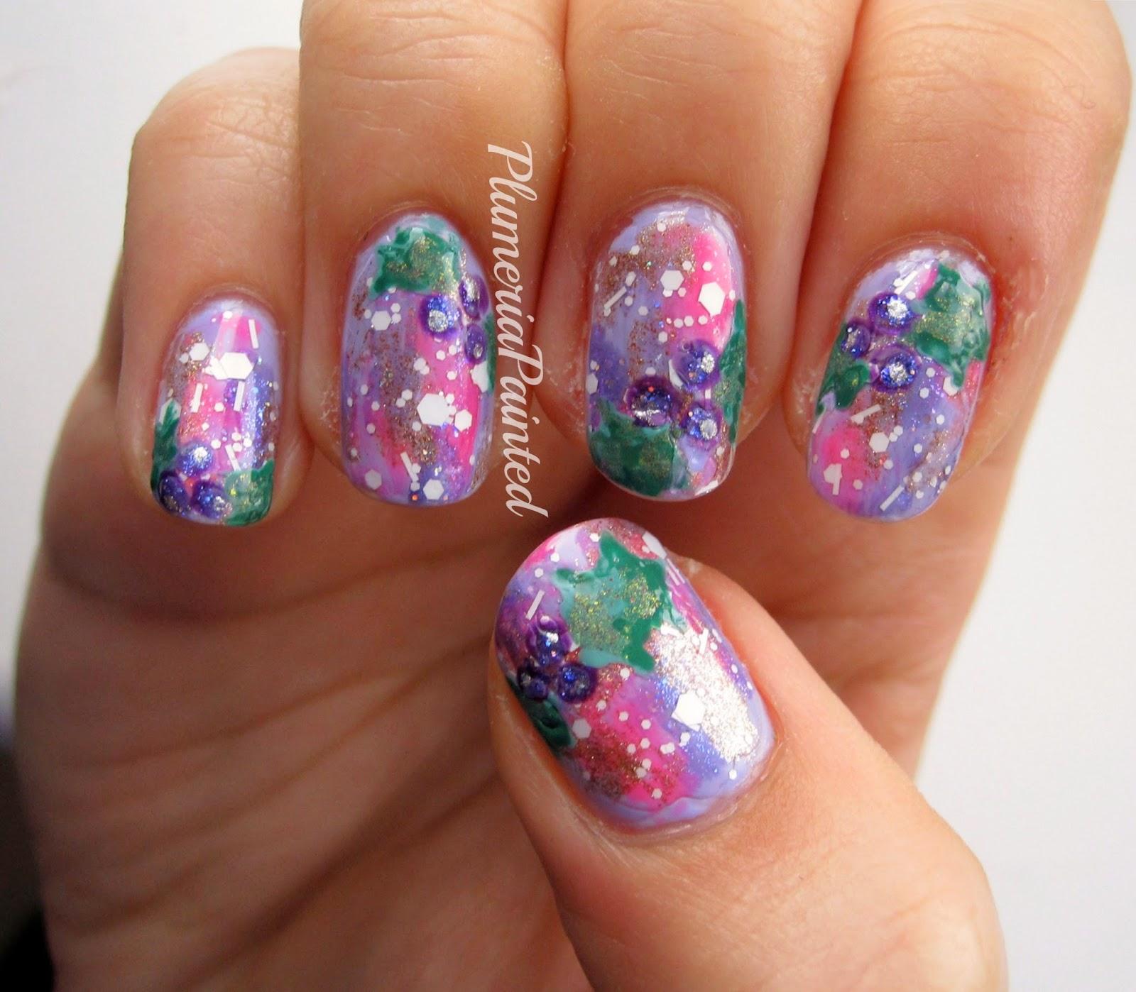 Plumeriapainted Winter Holly Feminine Distressed Nails