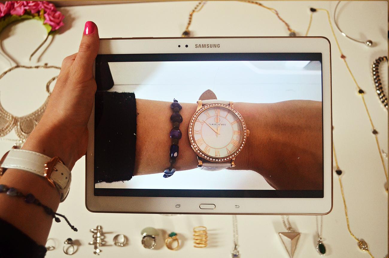 Samsung Galaxy Tab S Review // Midnight Rainbow // UK Fashion Blogger // Klaus Kobec Watch, samsung tablet review