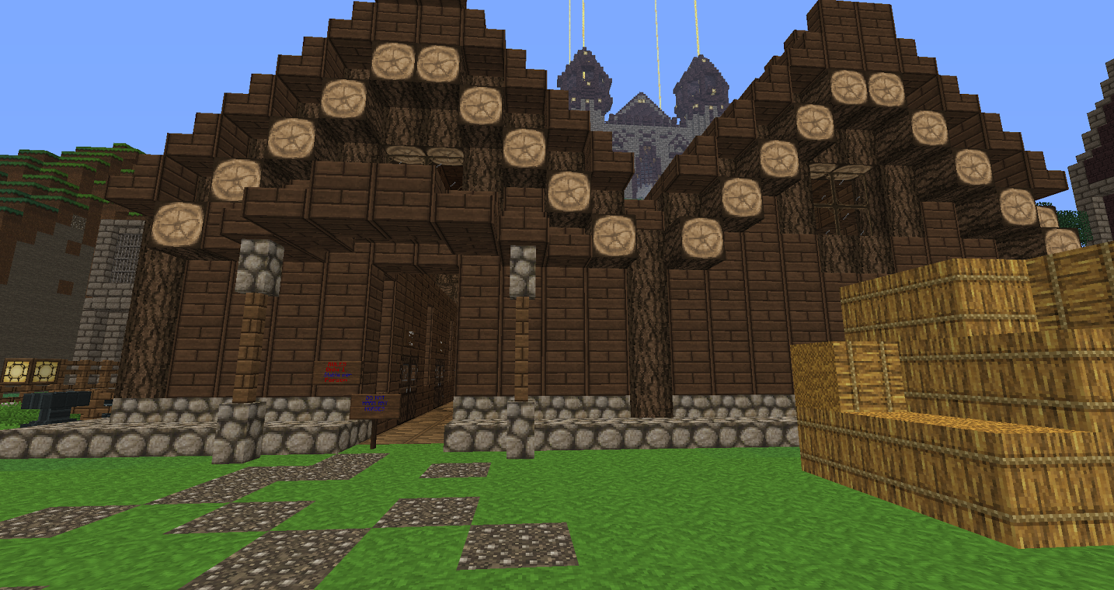 Minecraft Building Ideas Functional Stables