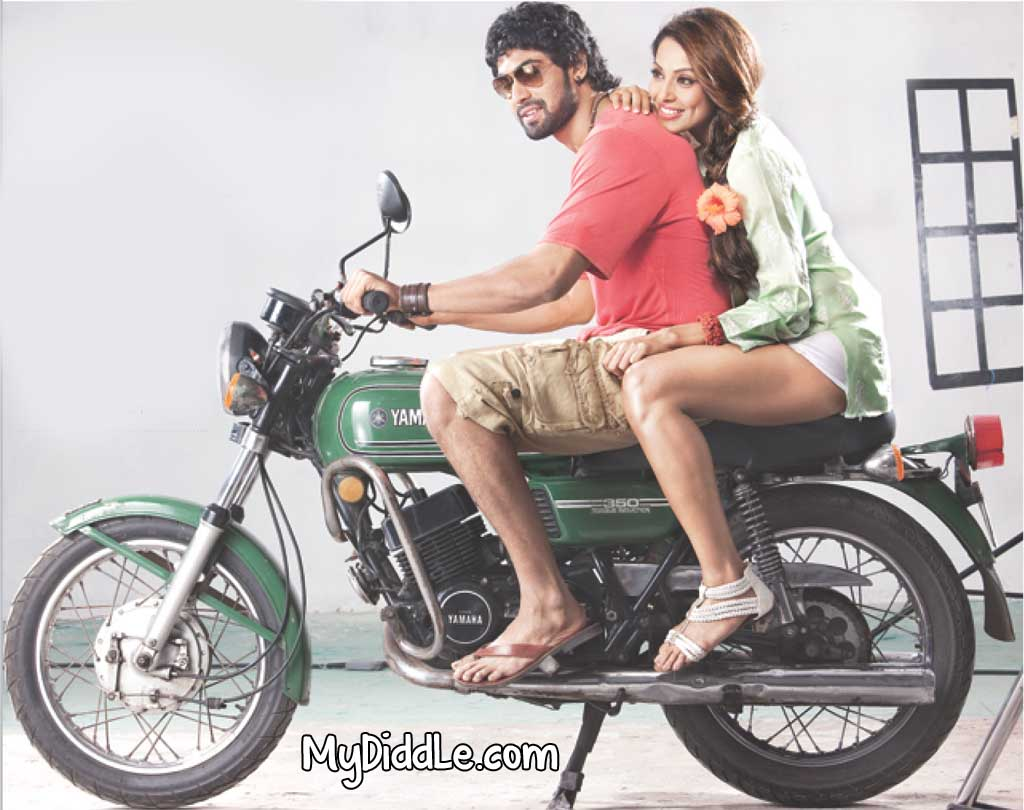 Bipasha Basu Hot Wallpaper sitting on Bike