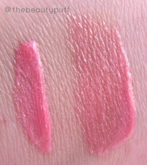 the organic face lip gloss swatch - the beauty puff