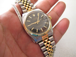SOLD ROLEX OYSTER PERPETUAL DATEJUST BLACK VERTICAL LINE DIAL - ROLEX 16013