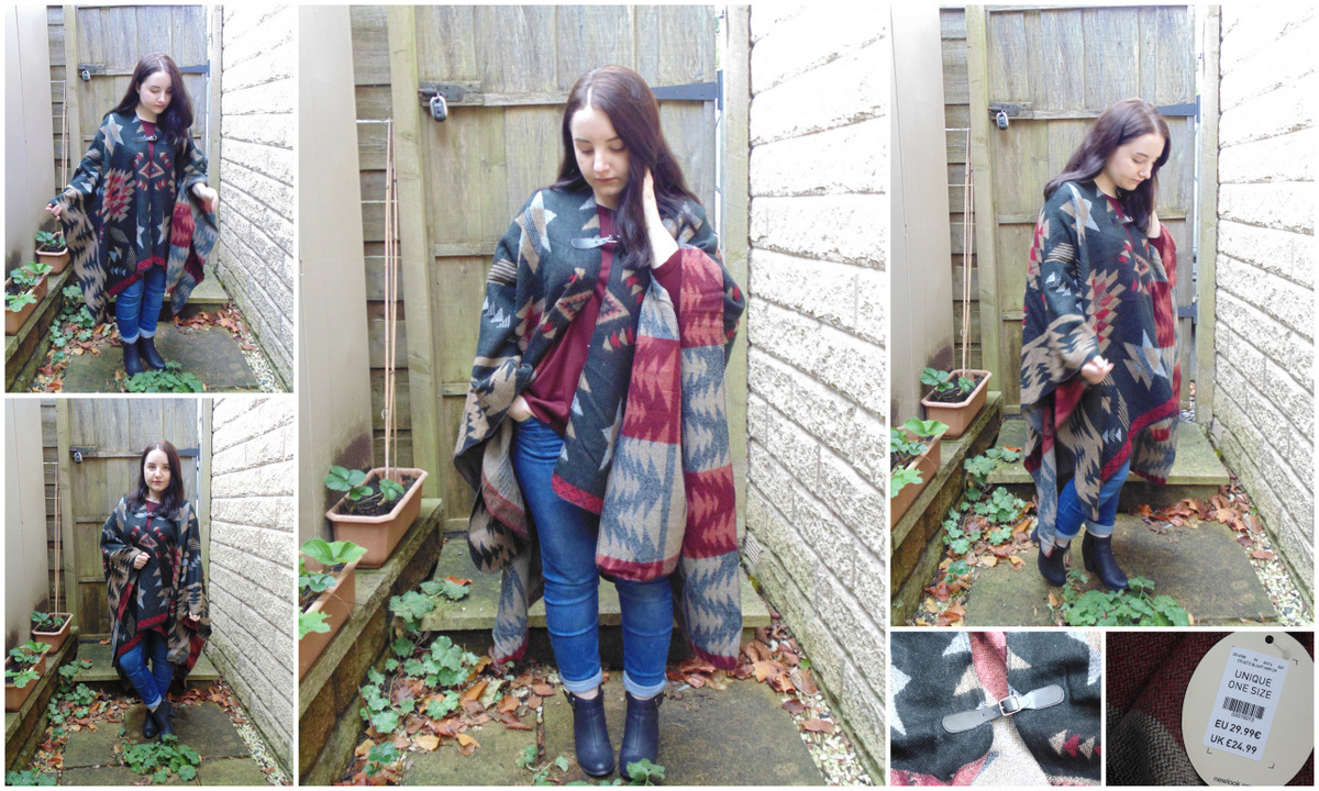 OOTD: Newlook Cameo Rose Blanket Wrap