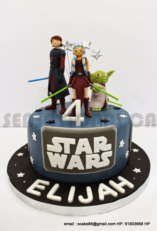 The Sensational Cakes Star Wars Theme 3d Characters Cake Singapore