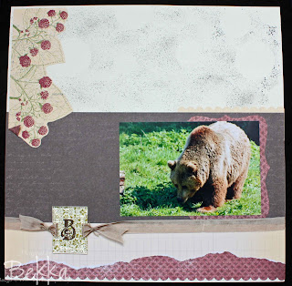 Stampin' Up! Scrapbook Page - Wipsnade Bears