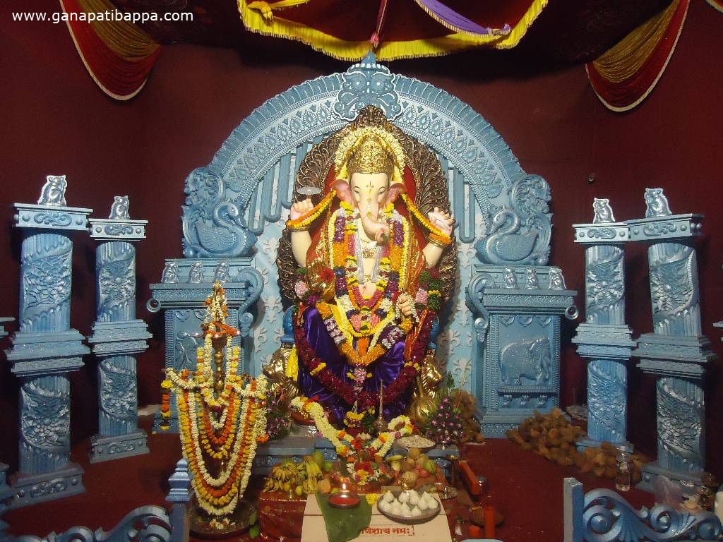 Religious wallpapers god is one for Background decoration for ganpati