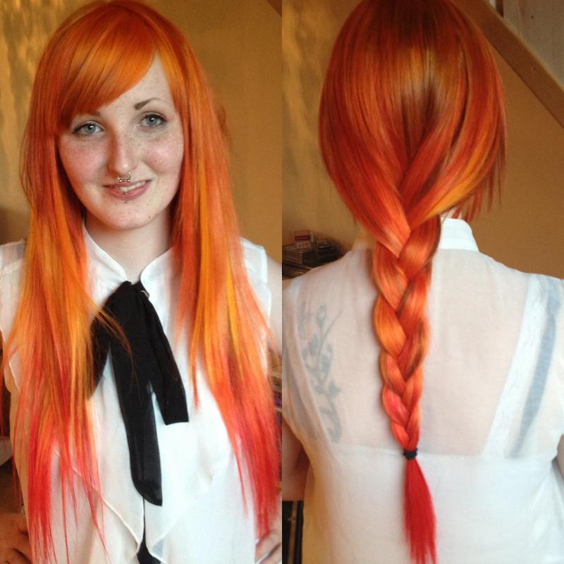 Dark orange hair dye