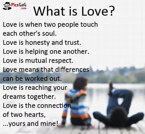 Of love meaning real The Meaning