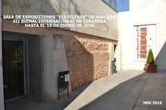 """13.11.15 EXPOSICIÓN EN LA SALA """"ELS FILTRES"""" DE LOS PREMIOS Y OBRAS DE LA BIENAL INT'L DE CERÁMICA"""