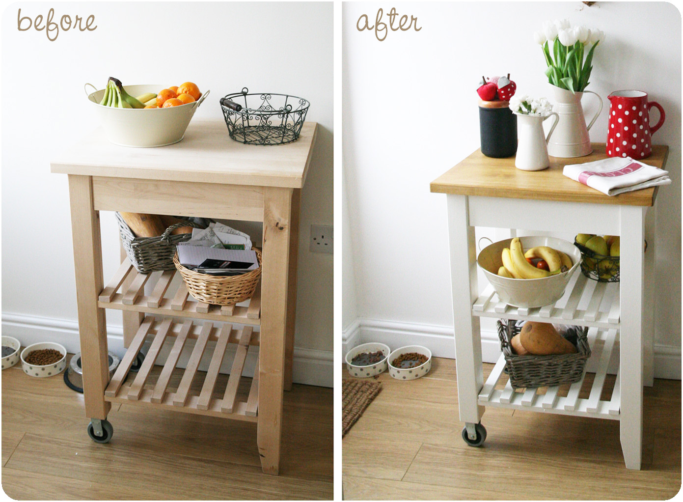 Countrykitty trolley makeover all tea towels review - Carrelli per cucina ikea ...