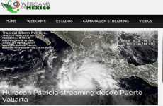 El huracán Patricia se puede seguir en vivo online mediante el sitio Webcams De  México