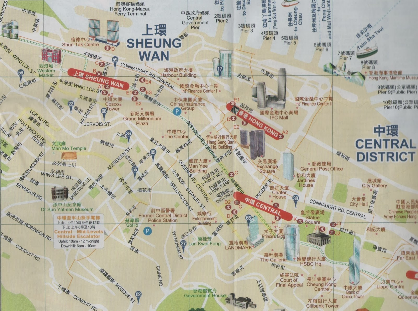 Travel in Sheung Wan and Central