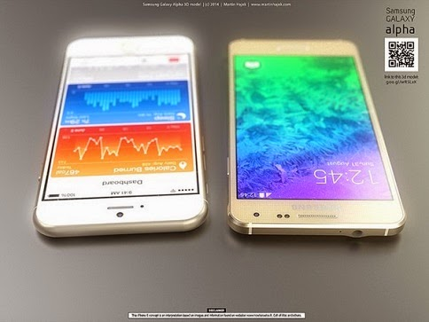 Samsung Galaxy Alpha vs iPhone 6 2
