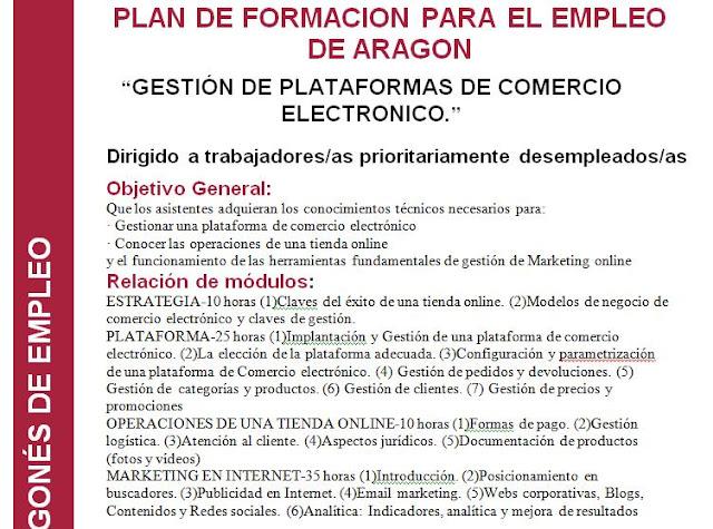 Curso de gestión de plataformas de Comercio Electrónico