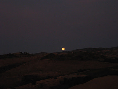Moon rise in Southern Tuscany