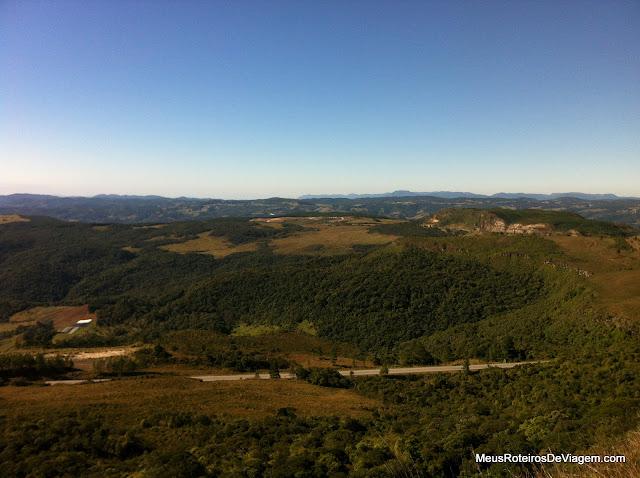 Vista do Mirante da Serra da Boa Vista - Rancho Queimado/SC