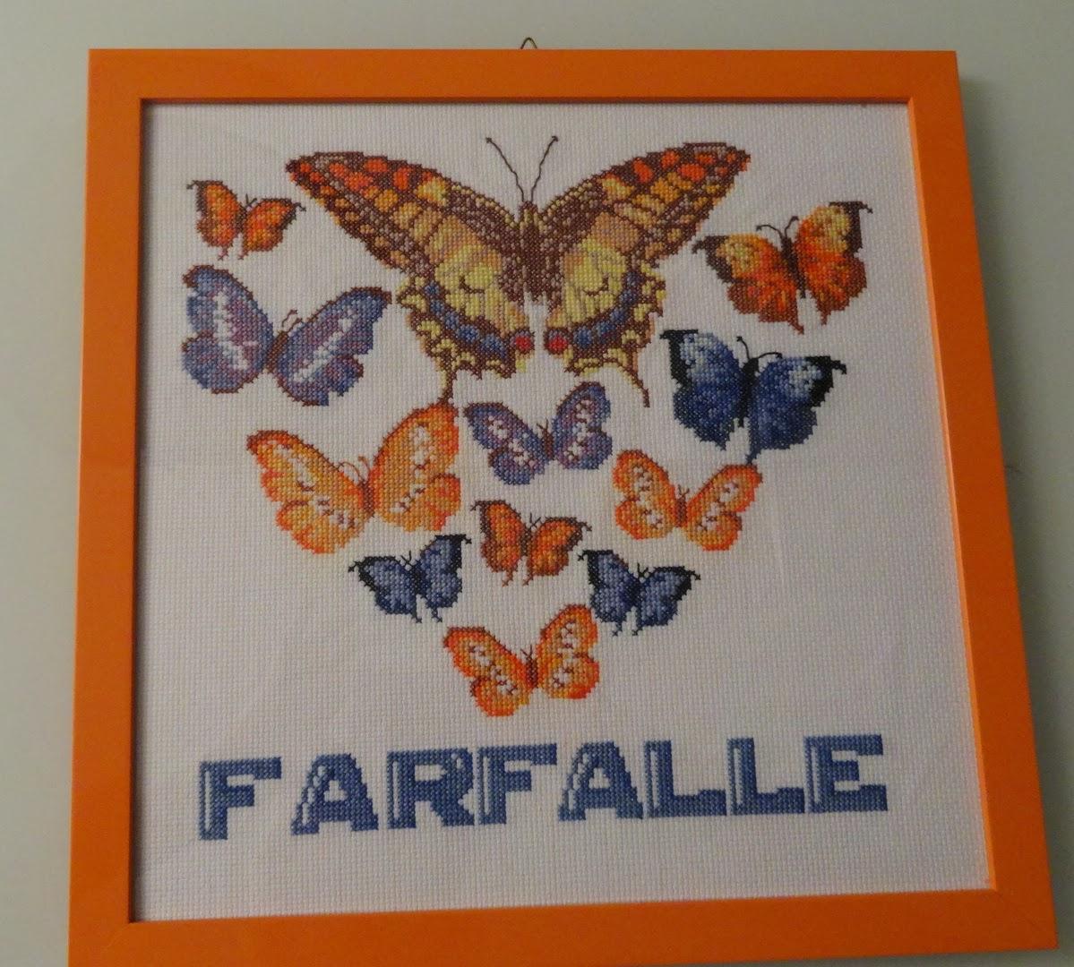 Punto croce per i bambini la mia passione le farfalle a for Farfalle a punto croce per bambini