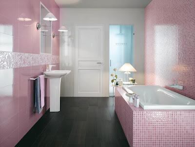 cuartos de baño rosas