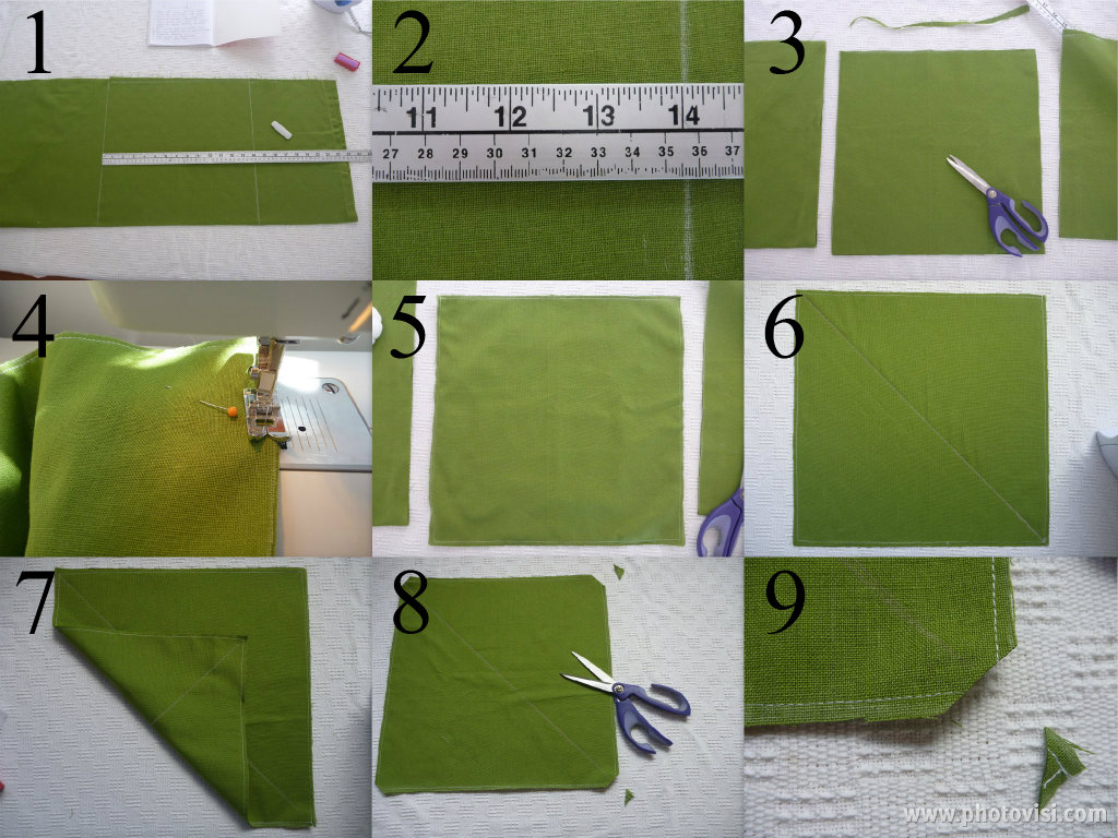 how to cut bias binding from a square