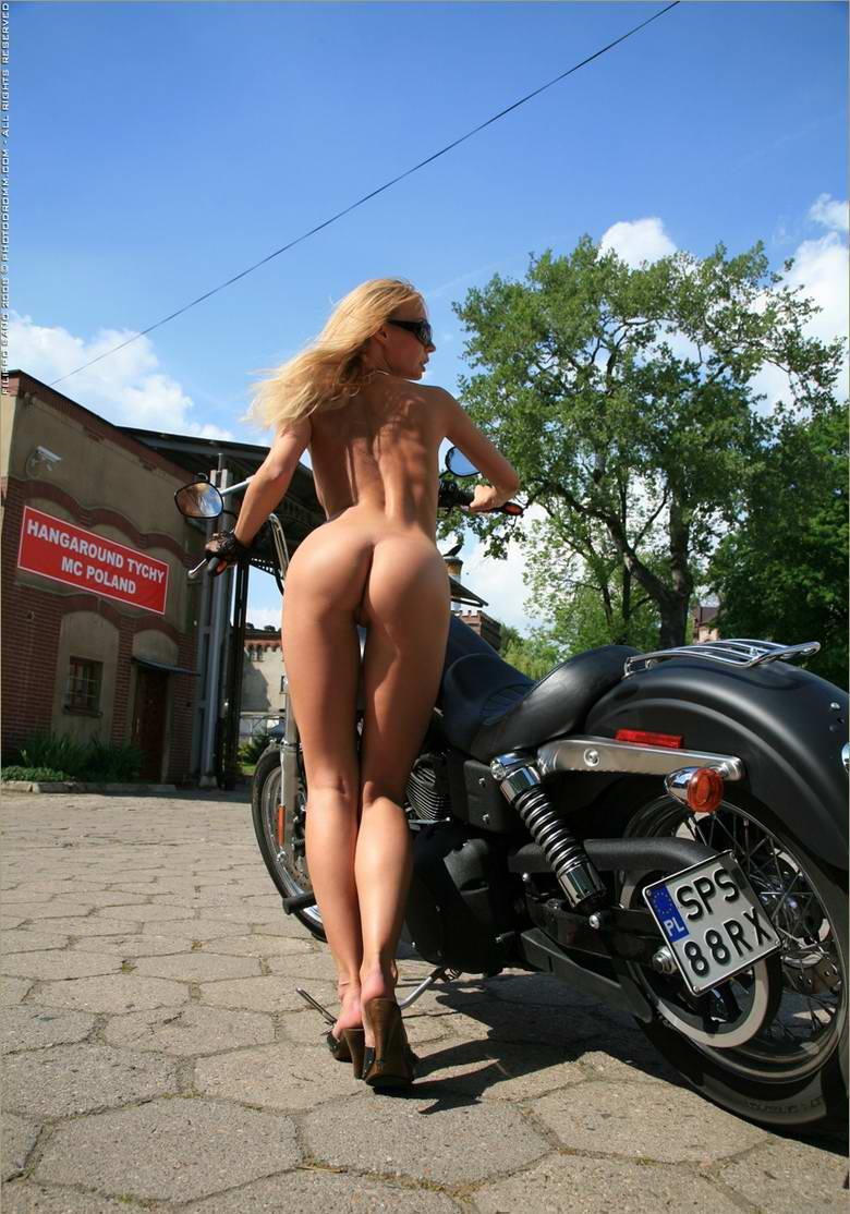 Choppers girls hot motorcycle naked on