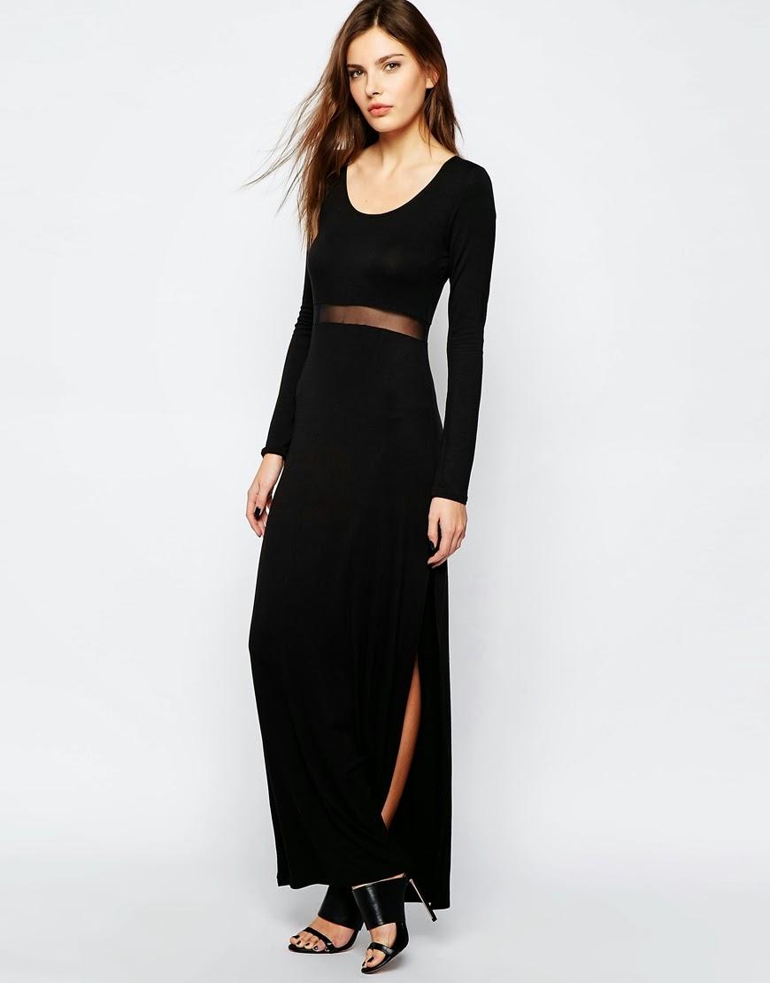 bcbgeneration maxi black dress