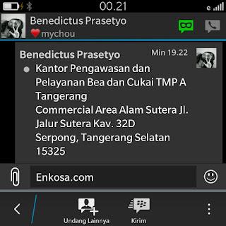 gambar detail testimoni enkosa sport toko online baju bola Konfirmasi alamat lengkap Benedictus Prasetyo di enkosa sport