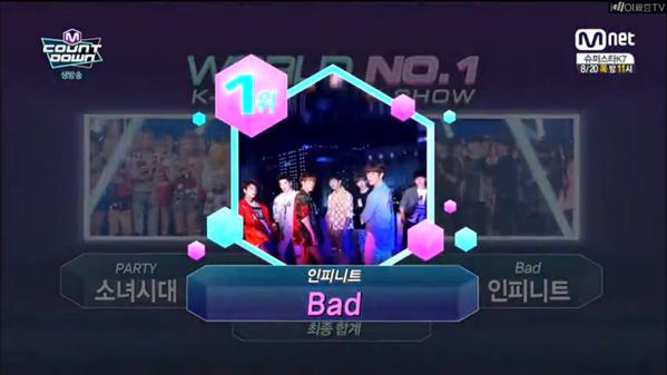 infinite bad 3rd win mnet mcountdown