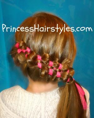puffy braid with ribbon