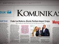 Press Release Kaltim Post Tanggal 14 Mei 2015 Tentang Parfum Federico Mahora