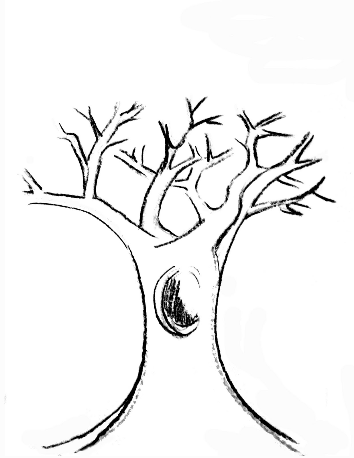Printable Tree Trunk Template Coloring Coloring Pages