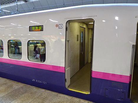 東北新幹線 はやて369号 新青森行き E2系(年末年始のみ運行)