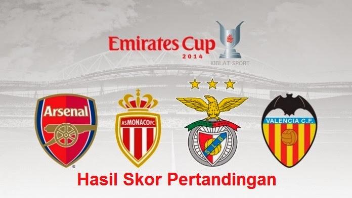 Hasil Skor Pertandingan Emirates Cup 2014
