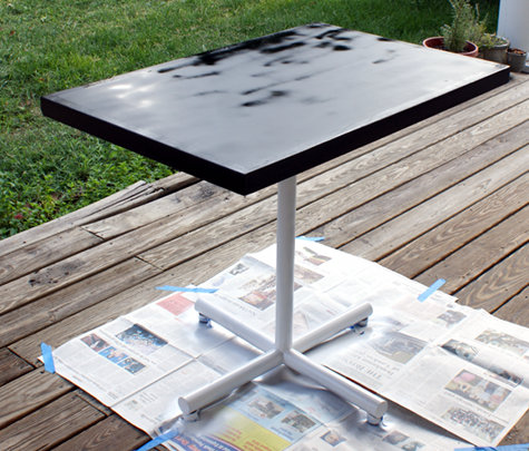 Upcycled Breakfast Table - DIY Chalkboard Paint Game Table Project