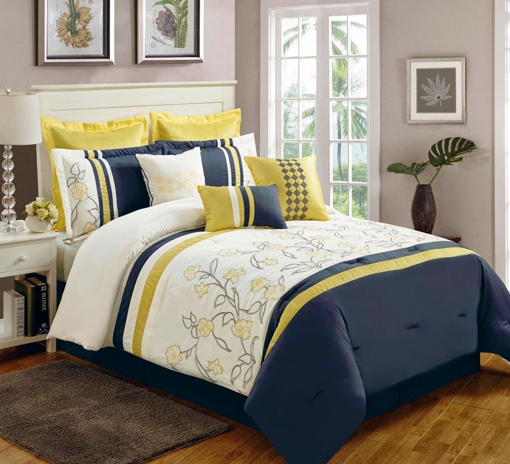 Buy Best And Beautiful Bedding Sets On Sale Black And Yellow Bedding Sets With More