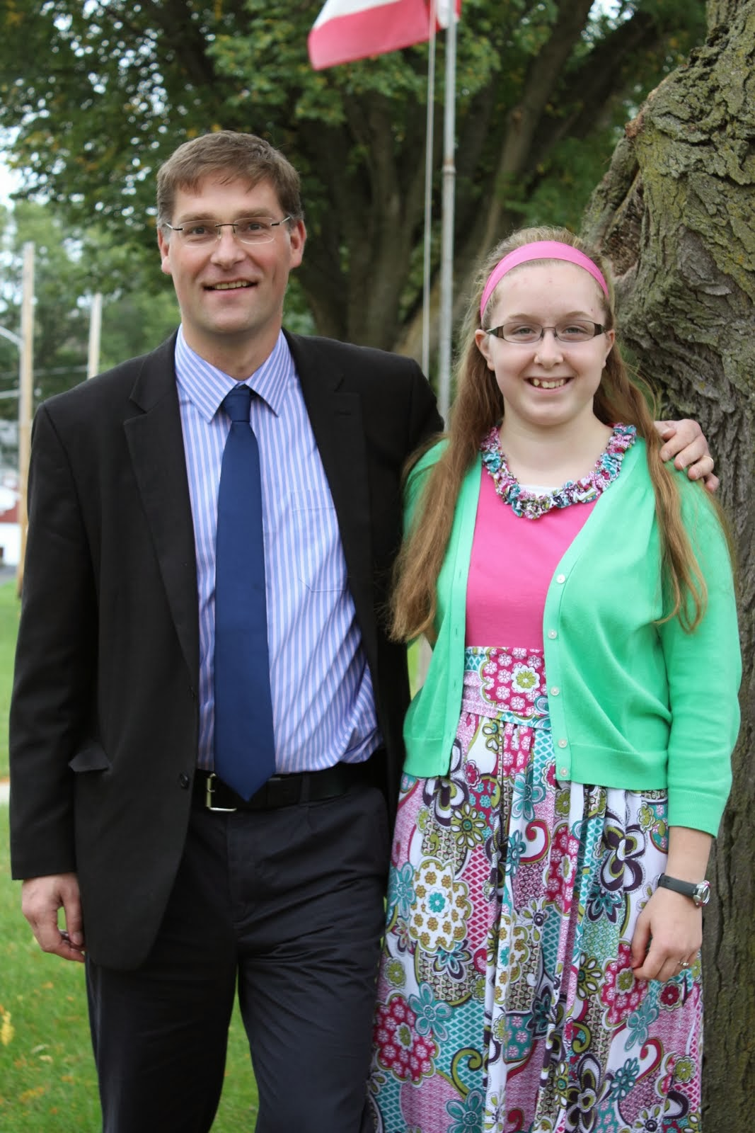 Blogger: Allison Ockenfels with the founder of Mary's Meals, Magnus MacFarlane-Barrow from Scotland