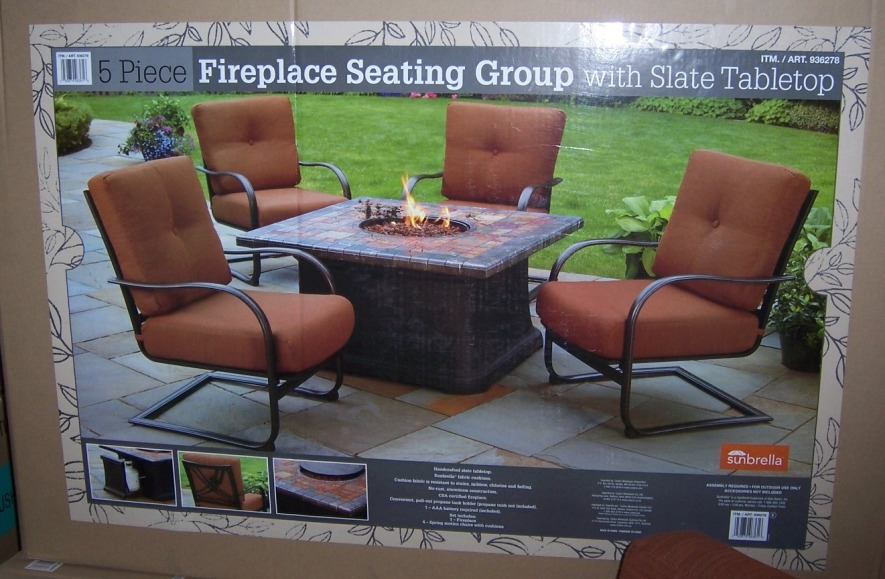 Photo   Propane Firepit Set At Costco