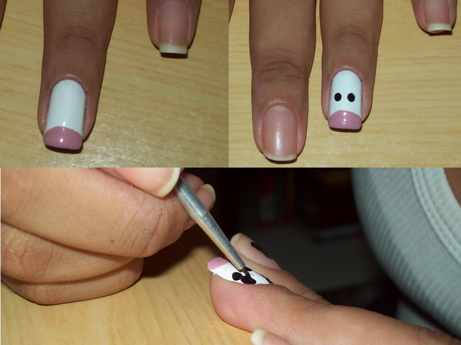 decorar unha branca: decorar os demais dedos! Utilizando o Pétala Branca faça