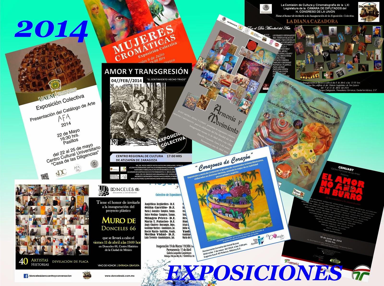 Exposiciónes 2014