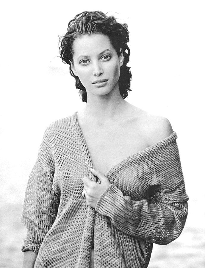 Christy Turlington in The Little Me editorial, Harper's Bazaar US May 1993