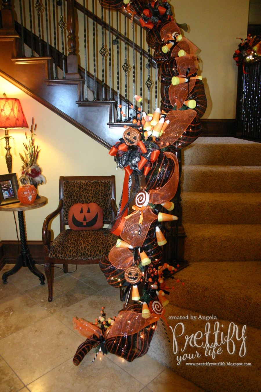 Prettify your life episode 113 halloween stairs for Halloween girlande