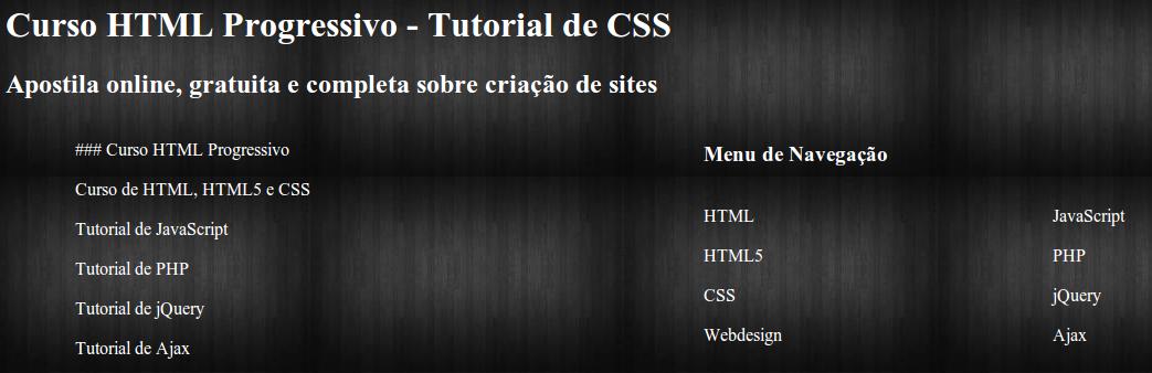 Tutorial de CSS - Apostila completa para download - Curso grátis com certificado online