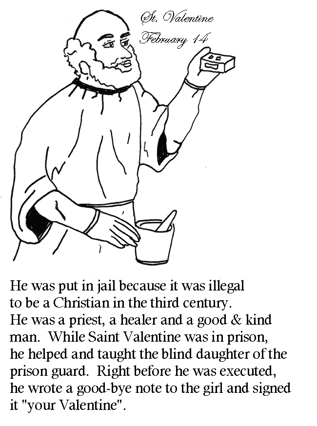 st valentine coloring pages catholic our lady 39 s children january through march february