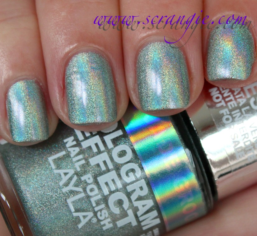 Scrangie: Layla Hologram Effect Nail Polish Swatches and Review