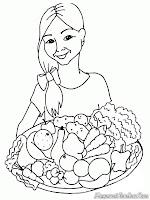 Ibu Membawa Aneka Macam Sayuran