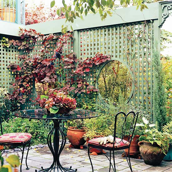 Backyard Privacy Ideas With Plants : Judys Cottage Garden 12 DIY Trellis Designs for Privacy