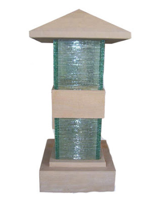 Glass Stone Lamp