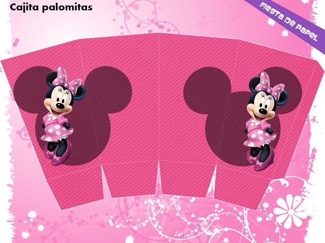 KI 063 Kit Imprimible Y Editable Minnie Mouse